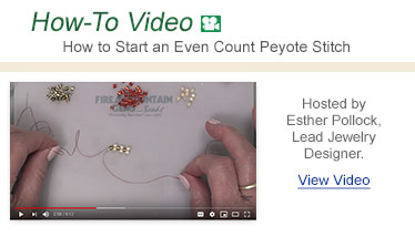 How-To Video - How to Start an Even Count Peyote Stitch