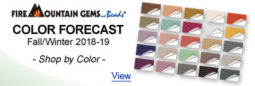 Fire Mountain Gems Color Forecast - Fall/Winter 2018-19
