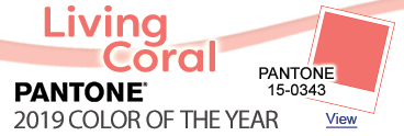 Pantone 2019 Color of the Year - Living Coral