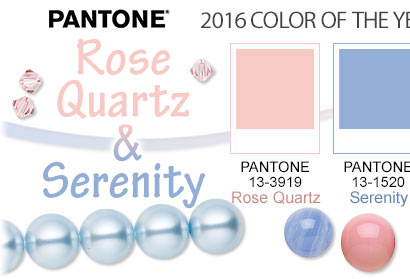 PANTONE® 2016 Color of the Year: Serenity and Rose Quartz