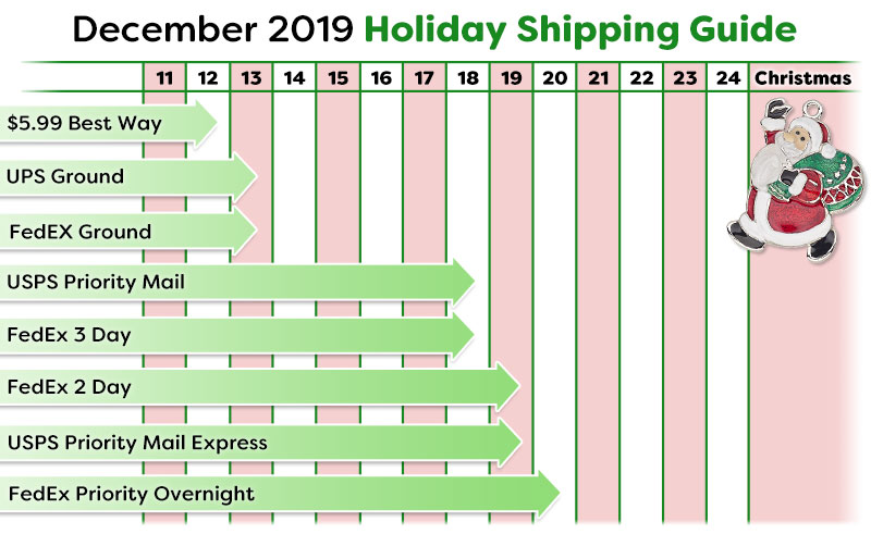 Christmas Shipping Schedule for the 2019 Holiday Season