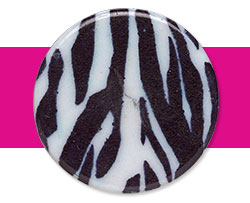 Zebra Print Beads and Components