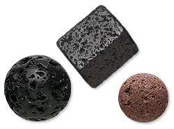 Lava Rock Beads and Components
