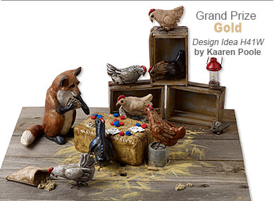 Creative Clays Contest Grand Prize Gold Medal Winner by Kaaren Poole - Design Idea H41W