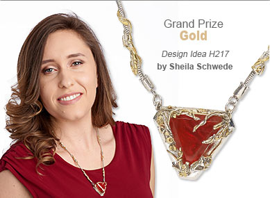 Metal Contest Grand Prize Gold Medal Winner by Sheila Schwede - Design Idea H217