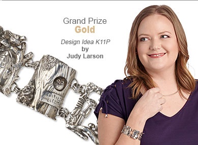 Metal Contest Grand Prize Gold Medal Winner by Judy Larson - Design Idea K11P