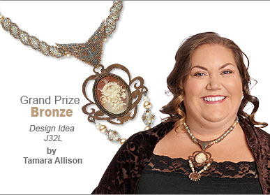 Seed Beads Contest Grand Prize Bronze Medal Winner by Tamara Allison - Design Idea J32L