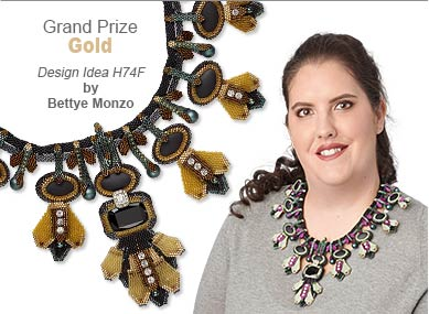 Seed Beads Contest Grand Prize Gold Medal Winner by Bettye Monzo - Design Idea H74F