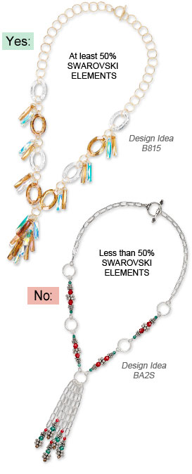 Swarovski crystal Jewelry-Making Contest Design Examples