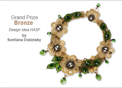 Swarovski crystal Contest Grand Prize Bronze Medal Winner by Svetlana Dubinsky - Design Idea HA3P