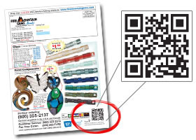 QR Code in our magazine