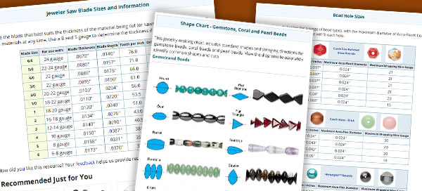 graphic about Printable Seed Bead Size Chart called Charts and Reference Supplies - Hearth Mountain Gems and Beads