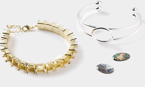 Jewelry settings and mountings fire mountain gems and beads bracelet settings solutioingenieria Choice Image