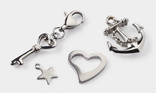 Stainless steel jewelry supplies fire mountain gems and beads charms pendants and drops aloadofball Images