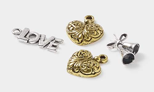 Wedding jewelry supplies fire mountain gems and beads charms pendants and drops mozeypictures Images