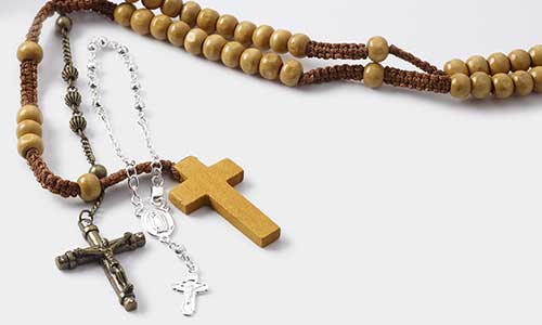 Rosary Beads and Rosary Parts - Fire
