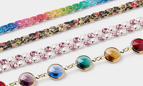 Patterned Multi Colored Chain