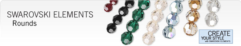 Swarovski Faceted Rounds