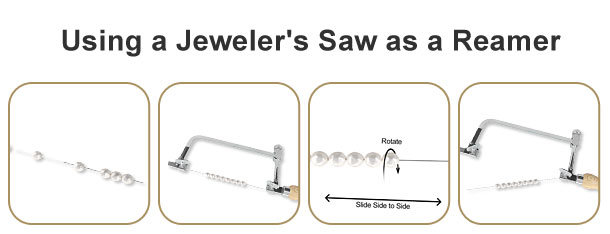 Using a Jewelers Saw as a Pearl/Bead Reamer How-To Video and Instructions