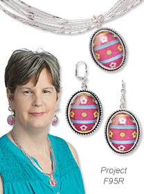 Hoppy Beading Day: Easter-Themed Seed Bead and Glass Cabochon Jewelry Set