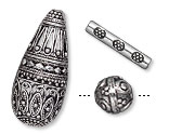 Antique Silver-Plated/Finished Beads