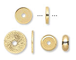 Gold Heishi Spacer Beads