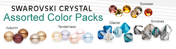 Swarovski Crystal Assorted Color Packs