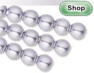Crystal Lavender Pearl Swarovski Crystal Beads