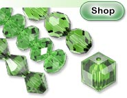 Fern Green Swarovski Crystal Beads