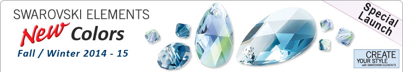 SWAROVSKI ELEMENTS New Colors & Shapes for Fall / Winter 2014-15