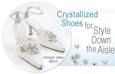 Crystallized Shoes for Style Down the Aisle