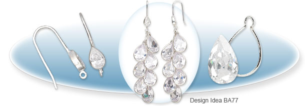 Cubic Zirconia Waterfall Earrings