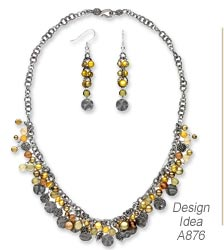 Design Idea A876 Necklace and Earrings