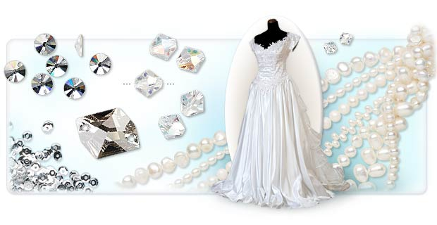 Wedding Gown Embellishment With Beads And Components