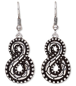 Item Number H20-7916JD 45mm With Infinity and Fishhook Earwire Earring