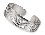 Item Number H20-4612JW Sterling Silver Toe Ring