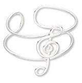 Item Number H20-1853JC Treble Clef Toe Ring