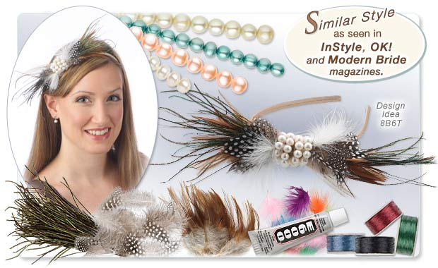 Plumes and Pearls Feathered Headband