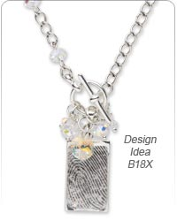 Single-Strand Necklace with Personalized Pendant and Swarovski Crystal Beads
