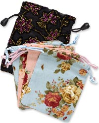 Floral-Patterned Gift Bags and Presentation Boxes