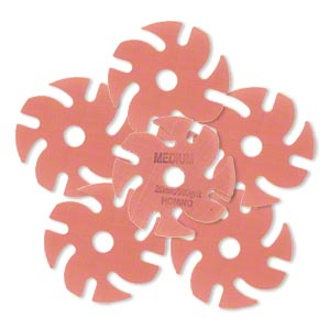 Abrasive disc, 3M™ Trizact™, plastic, pink, 500 grit, 3-inch replacement disc for Jooltool™. Sold per pkg of 6.