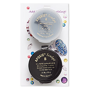 Adhesive, Apoxie® Sculpt, epoxy and polymer resin, black. Sold per 1/10 pound pkg.