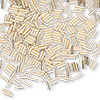 Bead, 12Kt gold-filled, 4x1mm smooth straight tube, 0.4mm hole. Sold per 1/4 troy ounce pkg, approximately 370 beads.