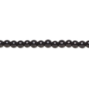 200 Black Diamond Crystal Glass 4mm Round Round Beads