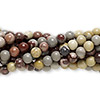 Bead, Crazy Horse™ stone (coated), 4mm round, C grade, Mohs hardness 3-1/2 to 4. Sold per pkg of (10) 16-inch strands.
