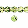 Bead, Czech fire-polished glass, green and brown, 10mm faceted round. Sold per pkg of 600 (1/2 mass).
