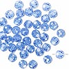 Bead, German crystal, sapphire blue, 6mm faceted round. Sold per pkg of 420.