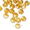 Bead, German crystal, topaz yellow, 8mm faceted round. Sold per pkg of 176.