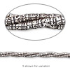 Bead, Hill Tribes, antiqued fine silver, 5x1mm tube. Sold per 16-inch strand.