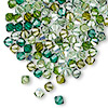 Bead, Swarovski crystal, Crystal Passions®, Ireland, 4mm Xilion bicone (5328). Sold per pkg of 144 (1 gross).